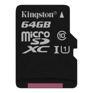 Kingston MicroSDXC-kort 64GB UHS Class 1
