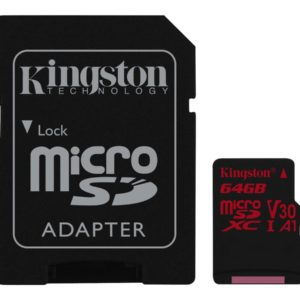 Kingston Canvas React microSDXC 64GB A1 / Video Class V30 / UHS-I U3 / Class10